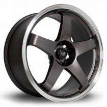 GTR 19x9 5x114 ET20 Gunmetal with Polished Lip