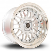 Kensei 15x8 4x100 ET0 Silver with Polished Lip