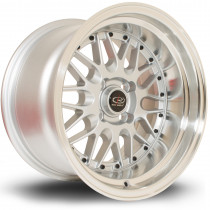 Kensei 15x9 4x100 ET0 Silver with Polished Lip