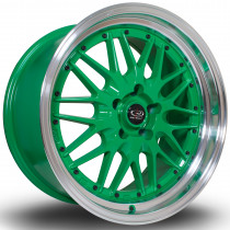 Kensei 18x9.5 5x114 ET15 Green with Polished Lip