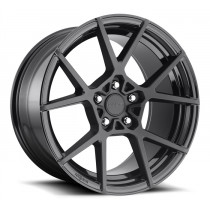 Rotiform KPS 18 x 8.5 / 18 x 9.5 5x100 et35 BLACK NEW! - set of four