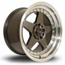 Kyusha 17x9.5 5x114 ET0 Gunmetal with Polished Lip