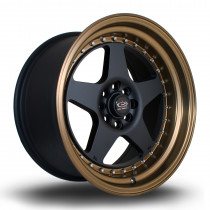 Kyusha 17x9 4x108 ET20 Flat Black with Bronze Lip