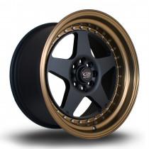 Kyusha 17x9 4x108 ET20 Flat Black with Bronze Lip