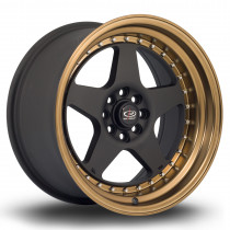 Kyusha 17x9 4x108 ET20 Flat Black with Speed Bronze Lip
