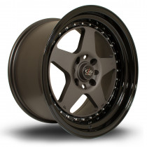 Kyusha 17x9 4x108 ET20 Flat Gunmetal with Gloss Black Lip