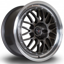 MC3 18x8.5 5x100 ET35 Gunmetal with Polished Lip