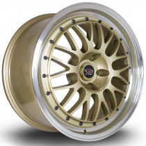 MC3 18x9 5x112 ET45 Gold with Polished Lip