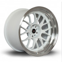 MXR 18x11 5x114 ET8 White with Polished Lip
