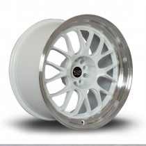 MXR 18x9.5 5x112 ET38 White with Polished Lip