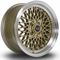 OSMesh 15x7 4x100 ET30 Gold with Polished Lip