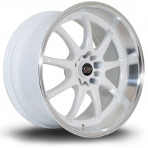 P1R 18x9.5 5x114 ET12 White with Polished Lip
