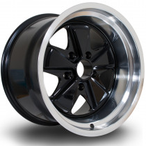 PSD 17x11 5x130 ET16 Black with Polished Lip