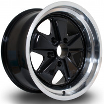 PSD 17x9 5x130 ET16 Black with Polished Lip