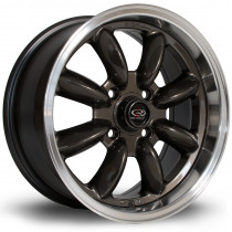 RB 15x7 4x100 ET30 Gunmetal with Polished Lip