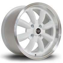 RB 15x8 4x100 ET30 White with Polished Lip