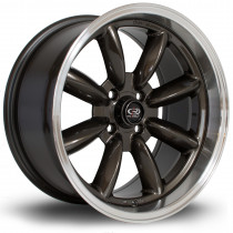 RBR 16x8 4x100 ET10 Gunmetal with Polished Lip