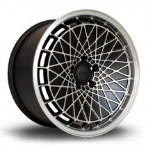 RM100 18x9.5 5x120 ET45 Flat Black with Matte Polished Face