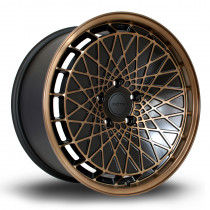 RM100 18x9 5x112 ET40 Flat Black with Sports Bronze Face