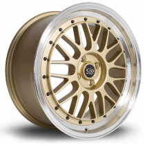 SDM 18x8 4x100 ET45 Gold with Polished Lip