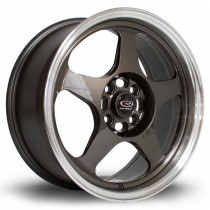 Slip 16x7 4x100 ET40 Gunmetal with Polished Lip