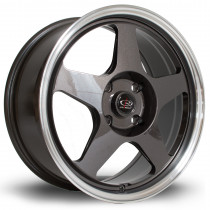 Slip 17x7.5 4x114 ET45 Gunmetal with Polished Lip