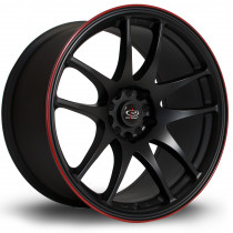 Torque 18x9.5 5x114 ET30 Flat Black with Red Lip