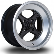 X04 15x8 4x100 ET0 Gunmetal with Polished LipM