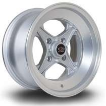 X04 15x8 4x100 ET0 Silver with Matte Polished Face