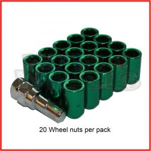 M12x1.25 Green Tuner Nuts 60 Degree Taper