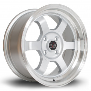 Grid-V 15x7 4x108 ET20 Silver with Polished Lip