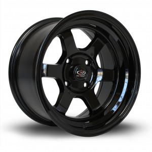 Grid-V 15x8 4x100 ET0 Gloss Black