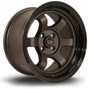 Grid Max 15x8 4x100 ET0 Flat Gunmetal with Gloss Black Lip