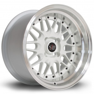 Kensei 15x8 4x100 ET0 White with Polished Lip