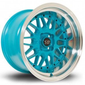 Kensei 15x9 4x100 ET0 Teal with Polished Lip