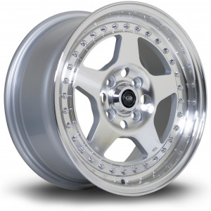 Kyusha 15x7 4x100 ET38 Silver with Polished Face