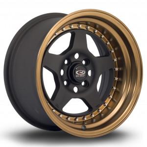 Kyusha 15x8 4x100 ET0 Flat Black with Speed Bronze Lip