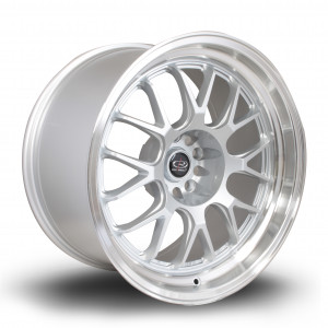 MXR 18x10 5x114 ET12 Silver with Polished Lip