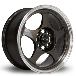 Slip 15x7 4x100 ET40 Gunmetal with Polished Lip