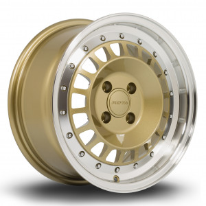 Speciale 15x7 4x108 ET20 Gold with Polished Lip