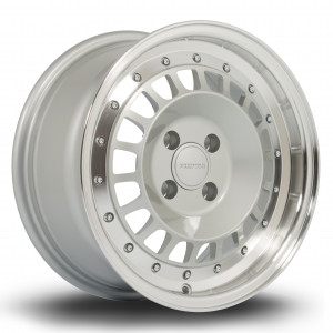 Speciale 15x7 4x108 ET20 Silver with Polished Lip