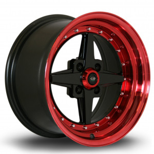 Zero 15x8 4x100 ET10 Gloss Black with Candy Red Lip